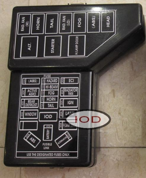 D What Iod Img Cd on Mitsubishi 3000gt Fuse Box